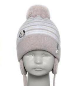 Зимняя польская шапка для новорожденных Barbaras р-ры 36-38