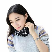 Шапочка хомут FeiTong в англійському стилі жіноча чорний, фото 3