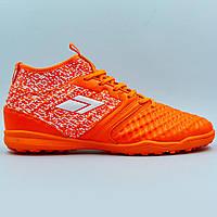 Сороконожки обувь футбольная с носком 170819-4 R.ORANGE/WHITE размер 40-45 оранжевый-белый Код 170819-4