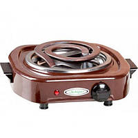 Плита настольная ЛЕМИРА ЭПТ 1-1,0 кВт/220В коричневая (широкий ТЕН)