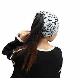 Шапочка хомут FeiTong в англійському стилі жіноча чорний Сірий
