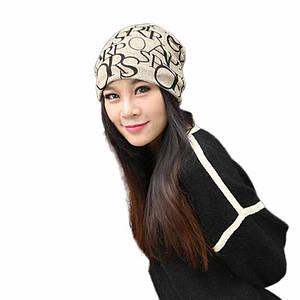 Шапочка хомут FeiTong в англійському стилі жіноча Хакі чорний