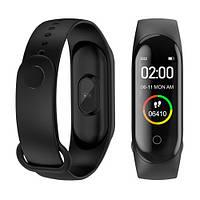 Фитнес браслет трекер часы, цветной экран M4 Fit Smart Bracelet black 151140