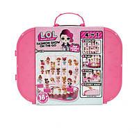 L.O.L Surprise! Кейс с куклой показ мод 4 в 1 темно-розовый 562689 Fashion Show On-The-Go Hot Pink Storage