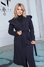 Пальто женское демисезонное черное большие размеры: 50-52,54-56,58-60, фото 3