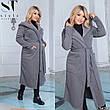 Пальто жіноче демісезонне синє великі розміри: 50-52,54-56,58-60, фото 5