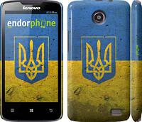 "Чехол на Lenovo A820 Флаг и герб Украины 2 ""378c-68"""