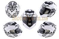 Шлем трансформер   (mod:FX-111) (size:L, белый)   FGN