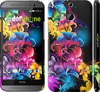 """Чехол на HTC One M8 dual sim Абстрактные цветы """"511c-55"""""""