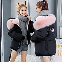 Женский укороченный объемный зимний пуховик, парка, куртка Portland Academy черный