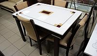 Стол кухонный раскладной со столешницей из искусственного камня ZH-878L-RED