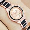 Часы женские наручные Майкл Корс crystal Pink gold-black/Pink gold