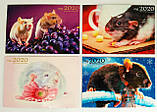 Магниты на холодильник  Реклама Год Крысы 9*6 микс, фото 3