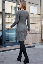 Приталенное платье до середины бедра на каждый день цвет серый, фото 3