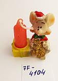 Статуэтка подсвечник со свечой Крыска размер 4,5*4 см, фото 2
