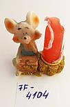 Статуэтка подсвечник со свечой Крыска размер 4,5*4 см, фото 3