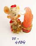 Статуэтка подсвечник со свечой Крыска размер 4,5*4 см, фото 5