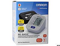 Тонометр Omron M2 Basic (HEM-7121-ALRU) автоматический на плечо с адаптером гарантия 5 лет