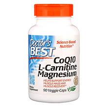 """Коензим Q10 з L-карнітином та магнієм Doctor's s Best """"CoQ10 L-Carnitine Magnesium"""" (90 капсул)"""