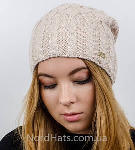 """Женская шапка, """"Моника"""" (светлая пудра)"""