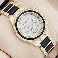 Часы женские наручные Майкл Корс crystal Gold-black/White