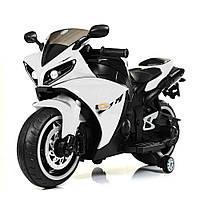 Детский электро-мотоцикл BMW на аккумуляторе Bambi для детей 3-6 лет Yamaha M 4069L-1 белый