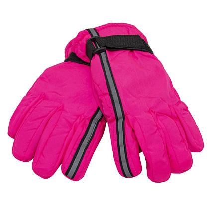 Детские перчатки, лыжные, розовые(513641-1)