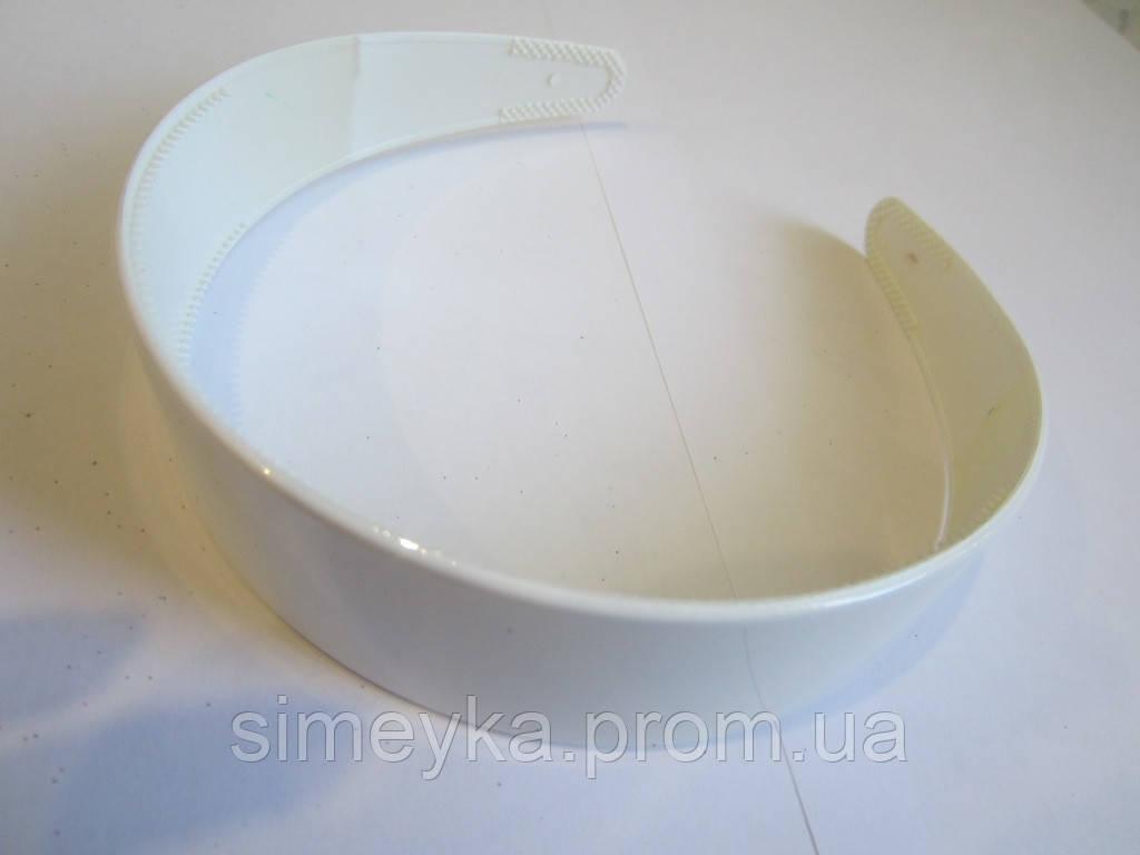 Обруч белый широкий, основа для украинского венка, ширина 3 см