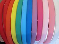 Обруч для волос каучуковый (прорезиненный) 8 мм цветной,упаковка 12 шт.