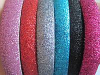 Обруч пластиковый в блёстках, цвета как на фото, ширина 12 мм, уп. 6 шт.