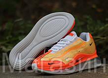 Мужские кроссовки Nike Air Max 720/95 Heron Preston By You (Найк Аир Макс 720/95 СТИЛЬ) оранжевые, фото 2