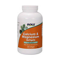 Calcium & Magnesium with vit. D and Zinc (240 softgels) NOW