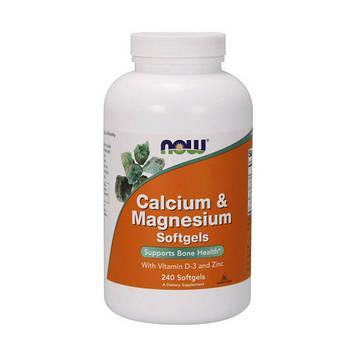 Calcium & Magnesium with vit. D and Zinc (240 softgels) NOW