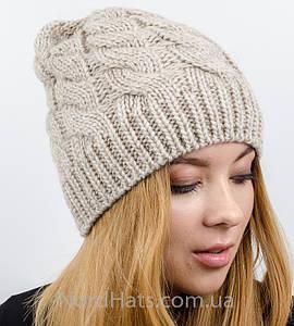 Женская вязаная шапка, (Лен)