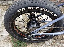 Электровелосипед электро фэтбайк на 20 колесах E-bike Hummer электро байк, фото 2