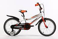 """Велосипед детский ARDIS STAR 16"""" Белый/Оранжевый   + боковые колеса и крылья"""