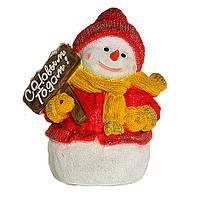 Новорічна фігура Сніговик з табличкою