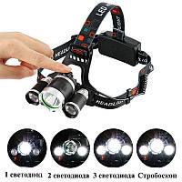 Налобный аккумуляторный фонарь Police BL-RJ3000-T6