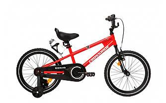 Велосипед детский CROSSRIDE Sonic 16 + боковые колеса и фляга Красный