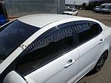 Ветровики, дефлекторы окон Kia Rio 2011- (Autoclover), фото 5