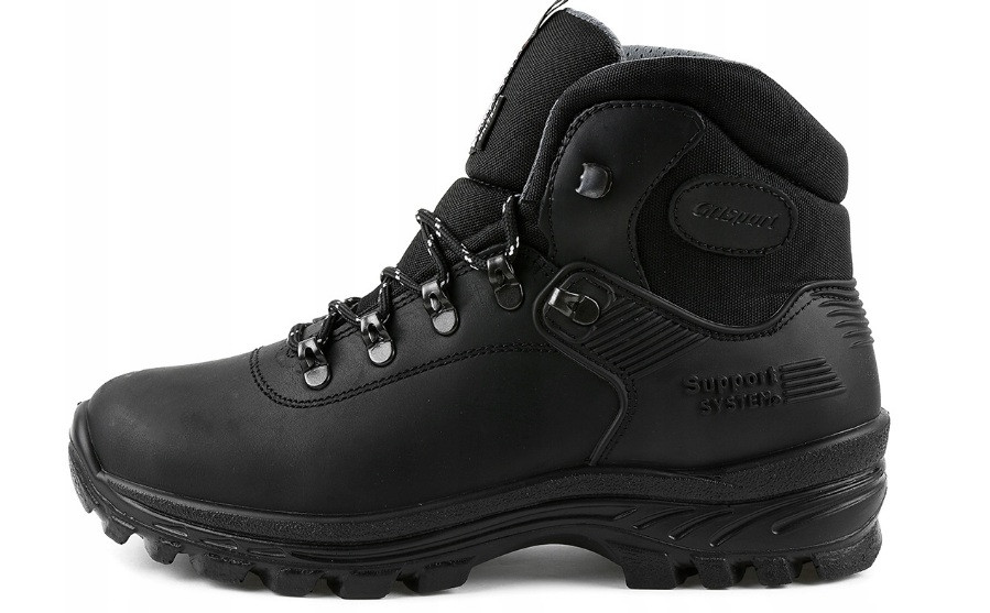 Зимові чоловічі трекінгові черевики з натуральної шкіри GRISPORT, чорний. Р 41-46