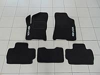 Коврики в салон ворс для ZAZ Forza чёрные, Beltex, комплект 5шт