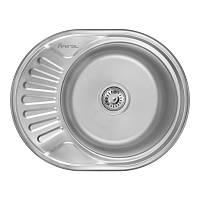 Врезная мойка для кухни из нержавеющей стали Imperial 6044-5745 (0,6мм) Decor 160 mm