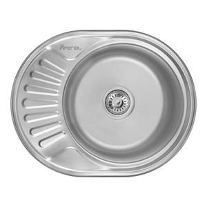 Врезная мойка для кухни из нержавеющей стали Imperial 5745 (0,6мм) Satin 160 mm