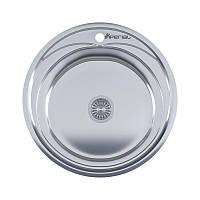 Врезная мойка для кухни из нержавеющей стали Imperial 490-A (0,6мм) Satin 160 mm