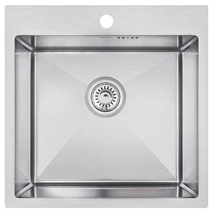Мойка для кухни из нержавющей стали врезная цвет матовый Imperial D5050 Handmade 3.0/1.2 mm