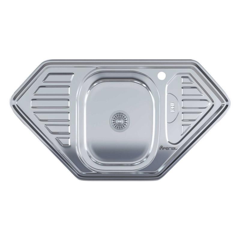Врезная мойка для кухни из нержавеющей  Imperial 9550-D Decor
