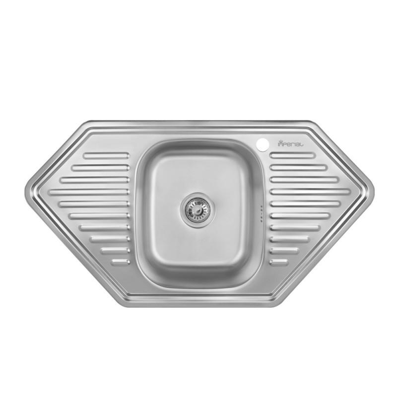 Врезная мойка для кухни из нержавеющей Imperial 9550 D Polish