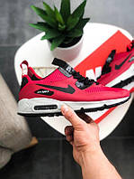 """Кроссовки зимние """" Nike Air Max Mid Winter """"Red """" kib найк"""