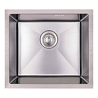 Мойка для кухни из нержавющей стали врезная цвет матовый Imperial D4843 Handmade 2.7/1.0 mm